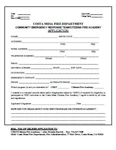 CERT application