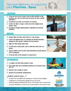 pool spa safety tips spanish