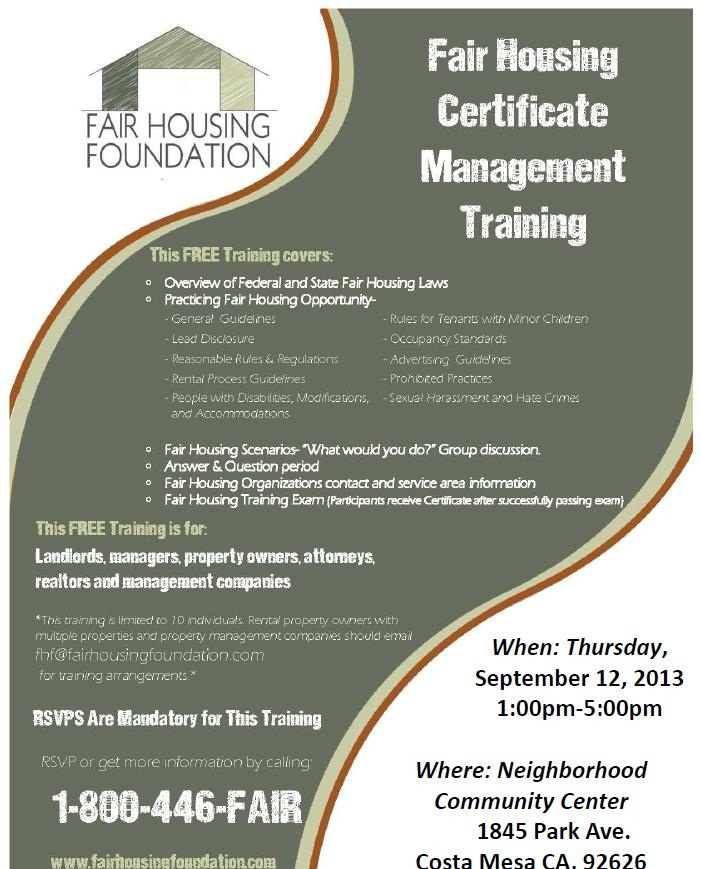 Fair Housing Training For Property Managers - Best Train 2018