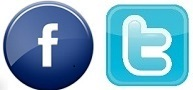 twitter and facebook icons fire department