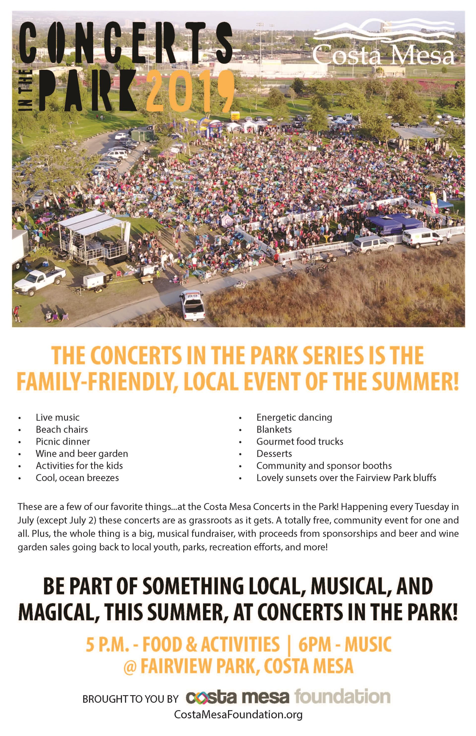 Concerts in the park 2019 2nd page