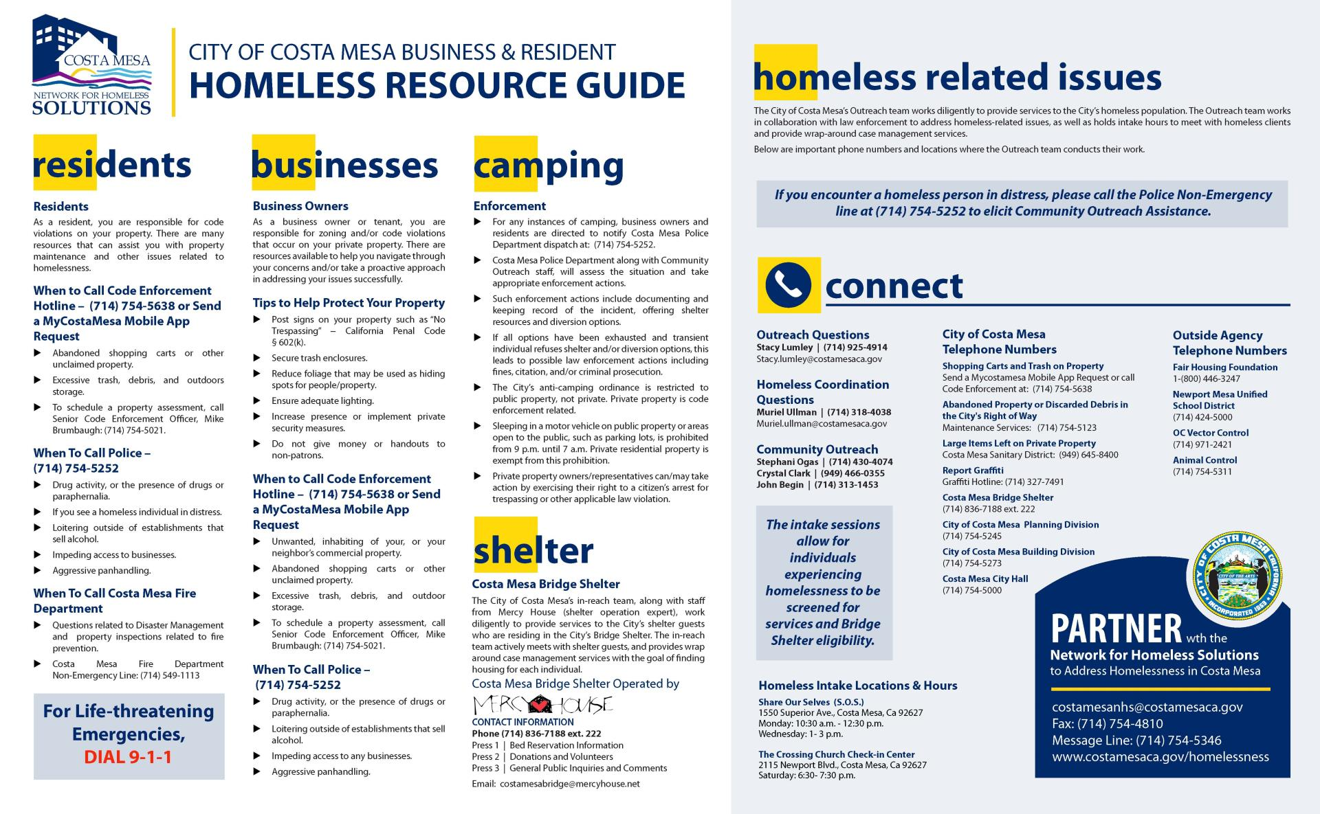Bridge Shelter Resource Guide - REV-9-16-2019