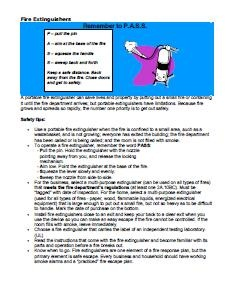 Fire Extinguisher Safety tips pic