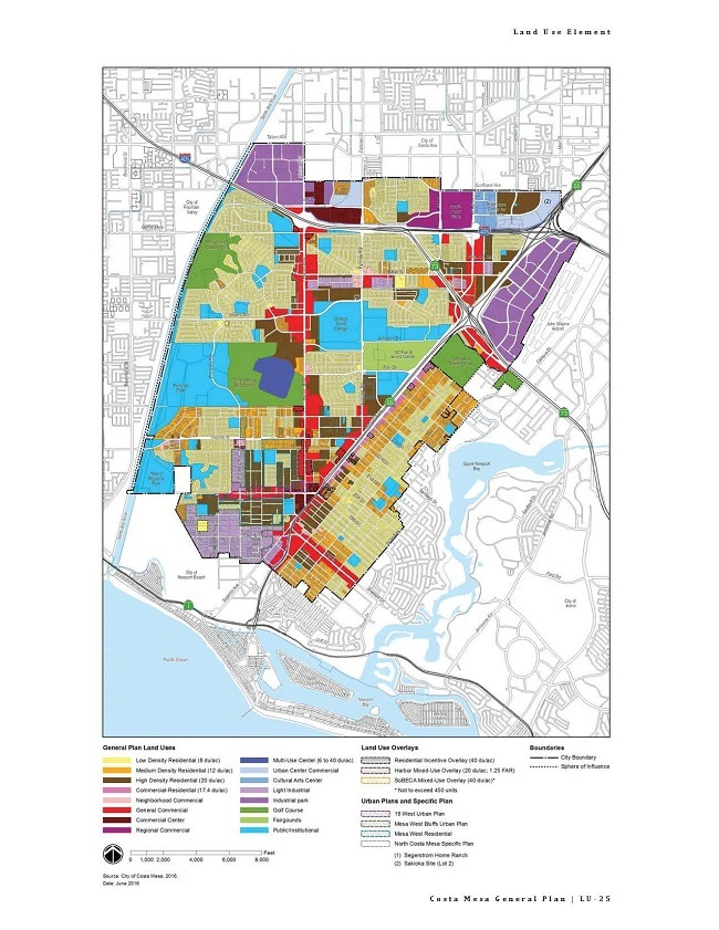 2015 2035 General Plan City Of Costa Mesa - Us-land-use-map